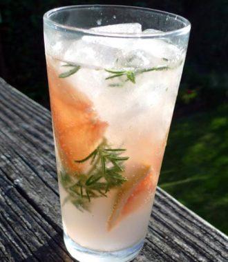 rosemary grapefruit water